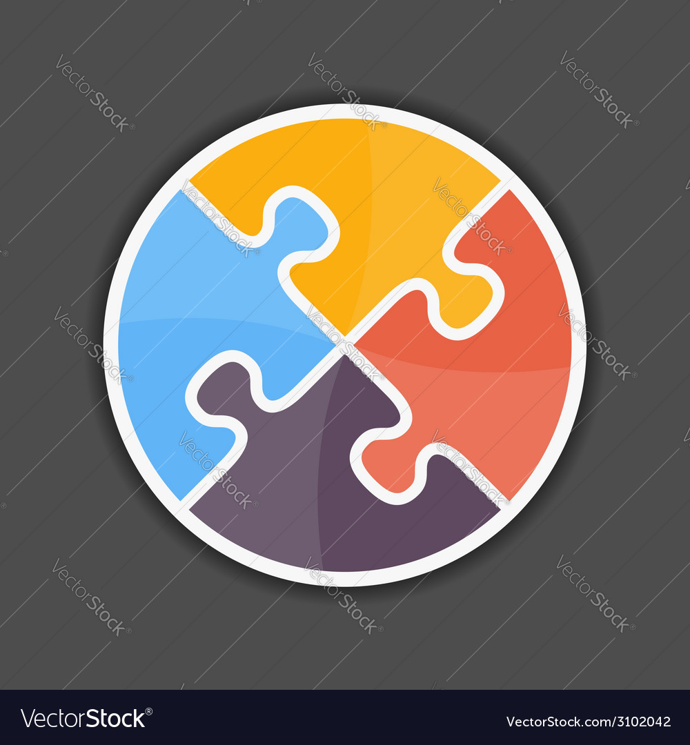 Puzzle circle vector | Price: 1 Credit (USD $1)