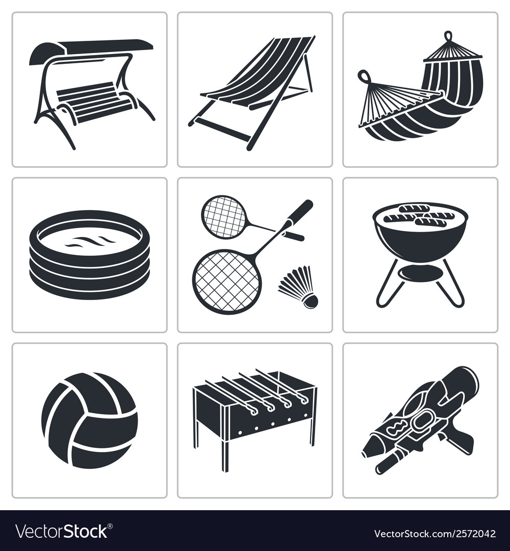 Recreation icon collection vector | Price: 1 Credit (USD $1)