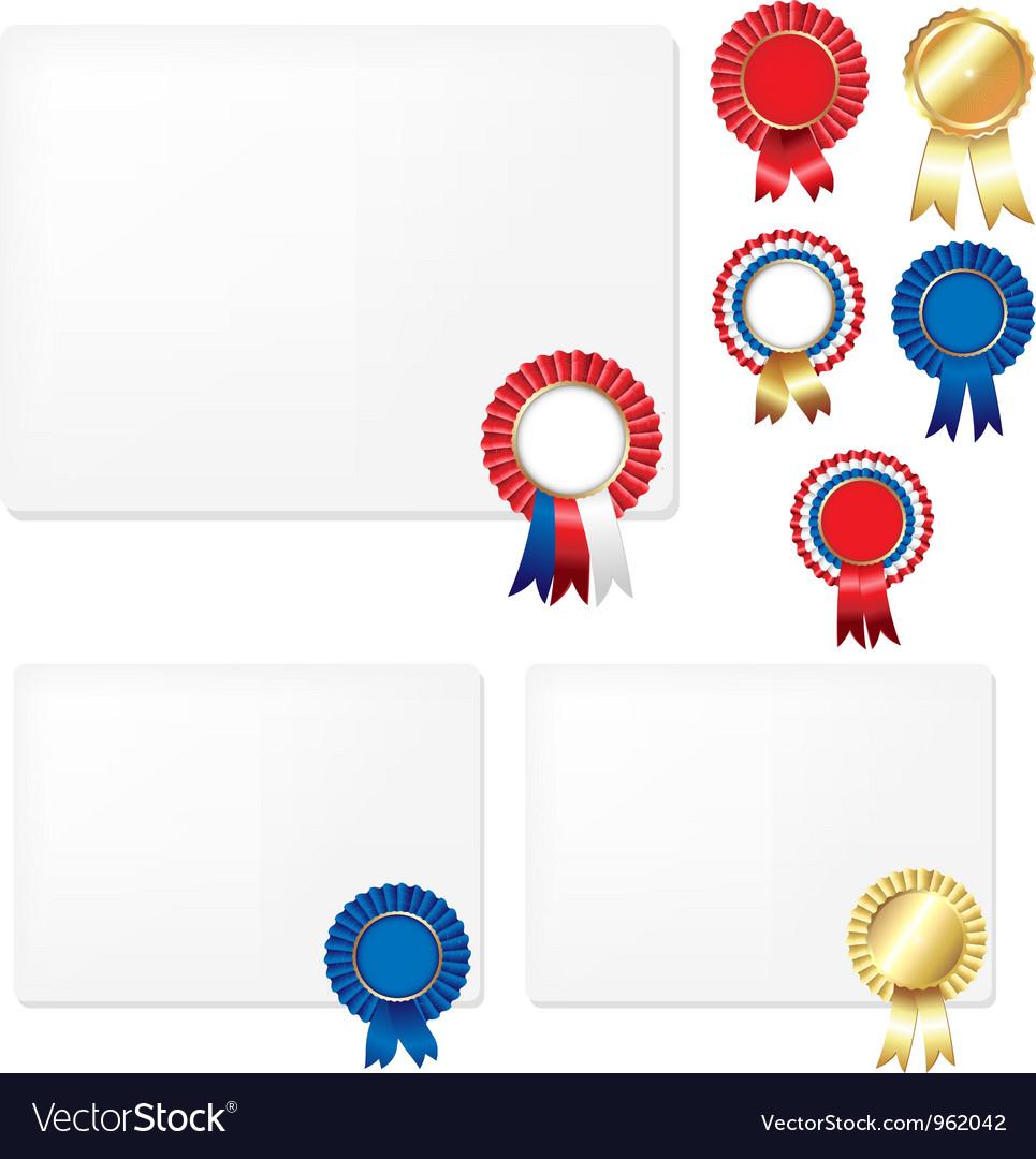 Rosette certificate vector | Price: 1 Credit (USD $1)