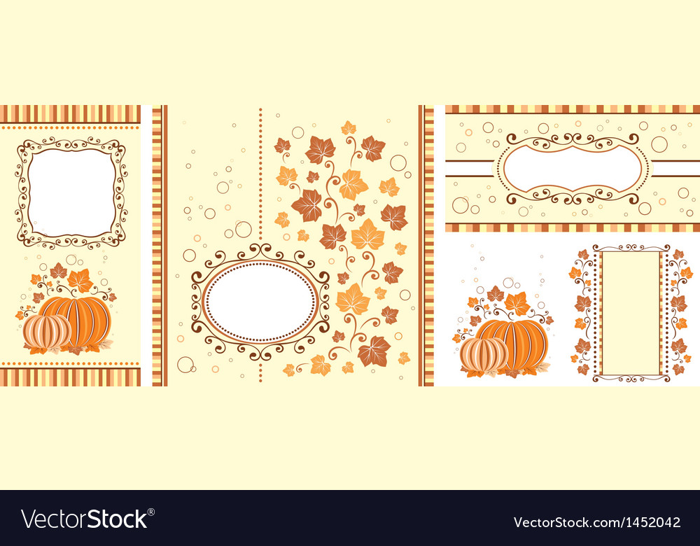 Set of autumn banners vector | Price: 1 Credit (USD $1)