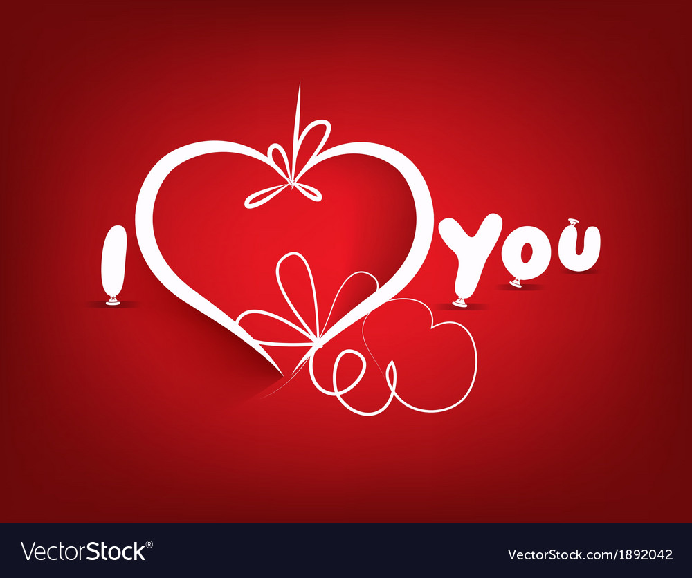 Valentines day background and i love you vector | Price: 1 Credit (USD $1)