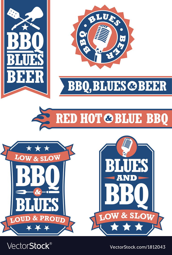 Barbecue and blues vector | Price: 1 Credit (USD $1)