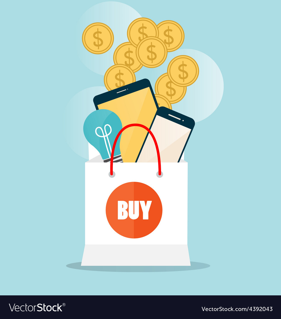 Business concept online shopping infographics vector | Price: 1 Credit (USD $1)