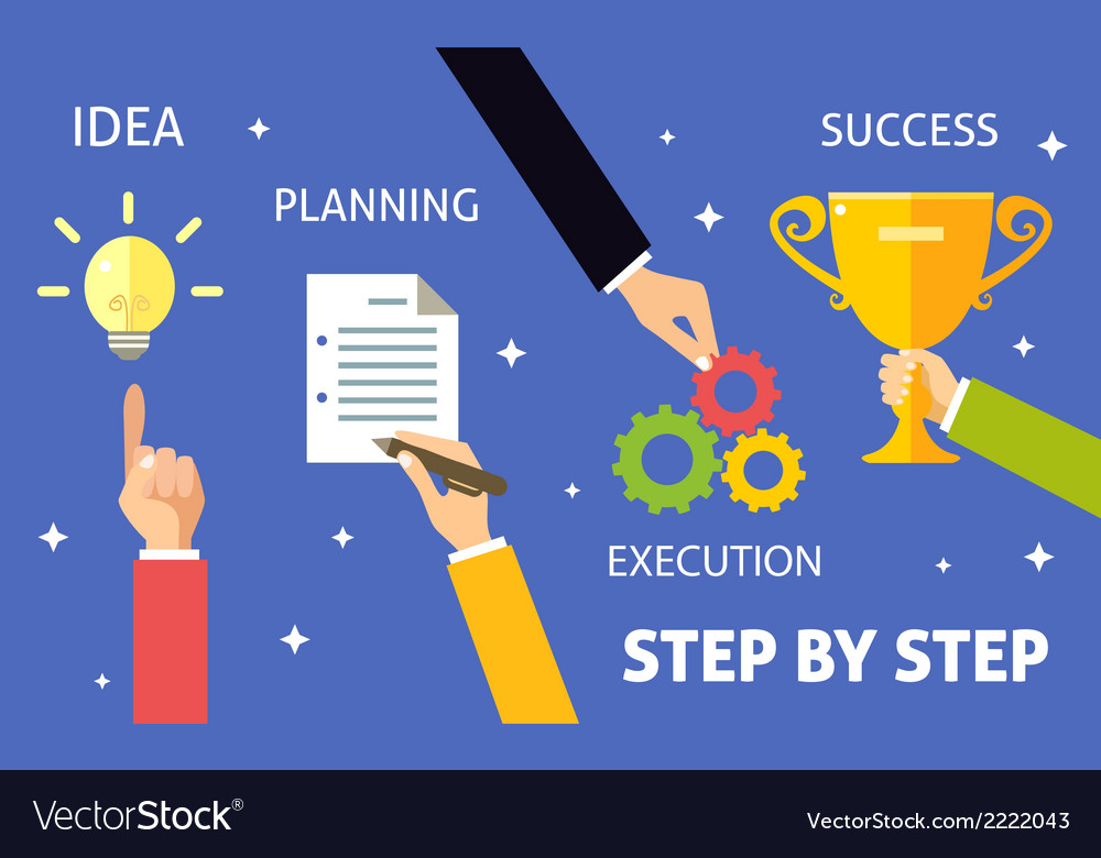 Business steps concept vector | Price: 1 Credit (USD $1)