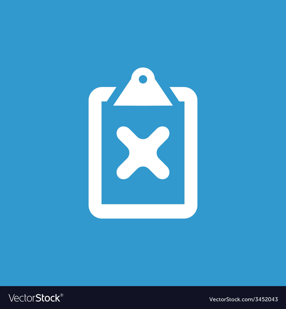 Cancel icon white on the blue background vector | Price: 1 Credit (USD $1)