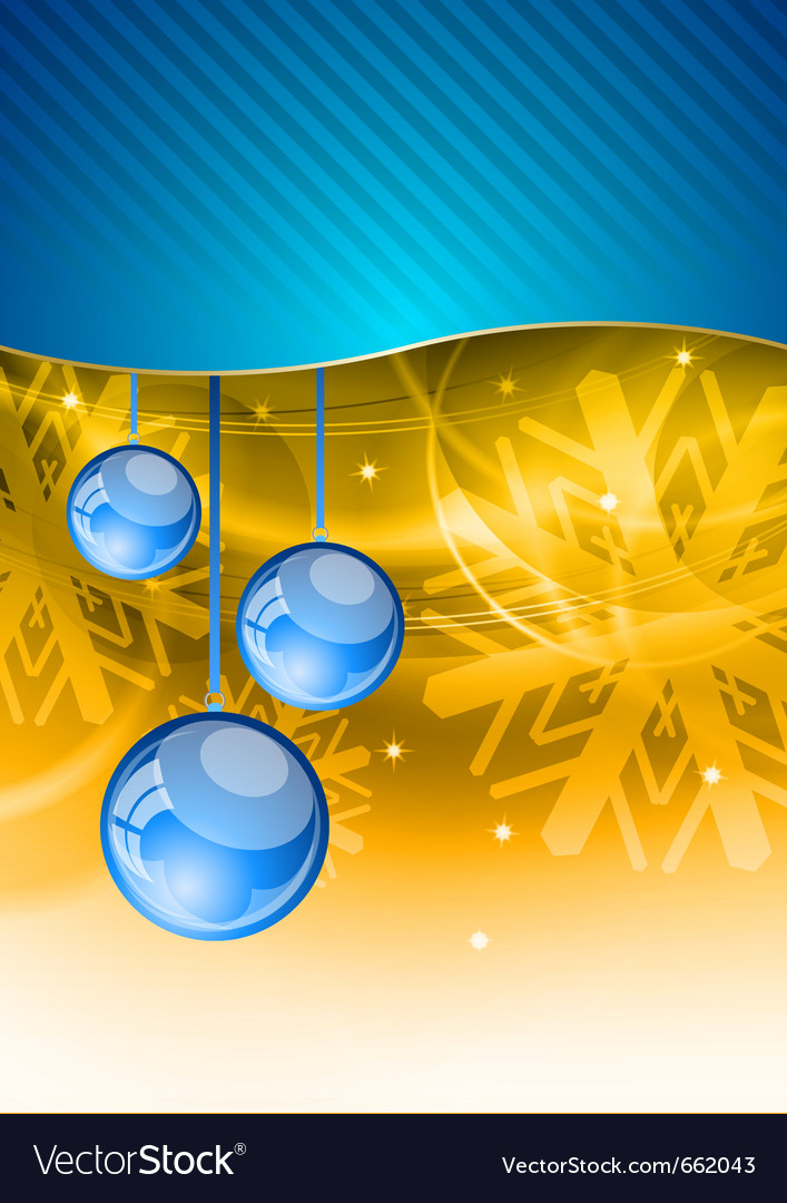 Christmas decoration with blue balls vector   Price: 1 Credit (USD $1)