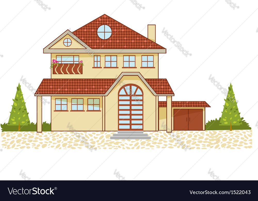 Icon of a luxury cottage isolated eps10 vector | Price: 1 Credit (USD $1)
