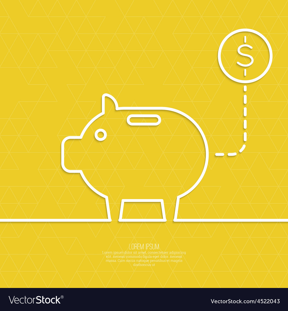 Icon pig piggy bank vector | Price: 1 Credit (USD $1)