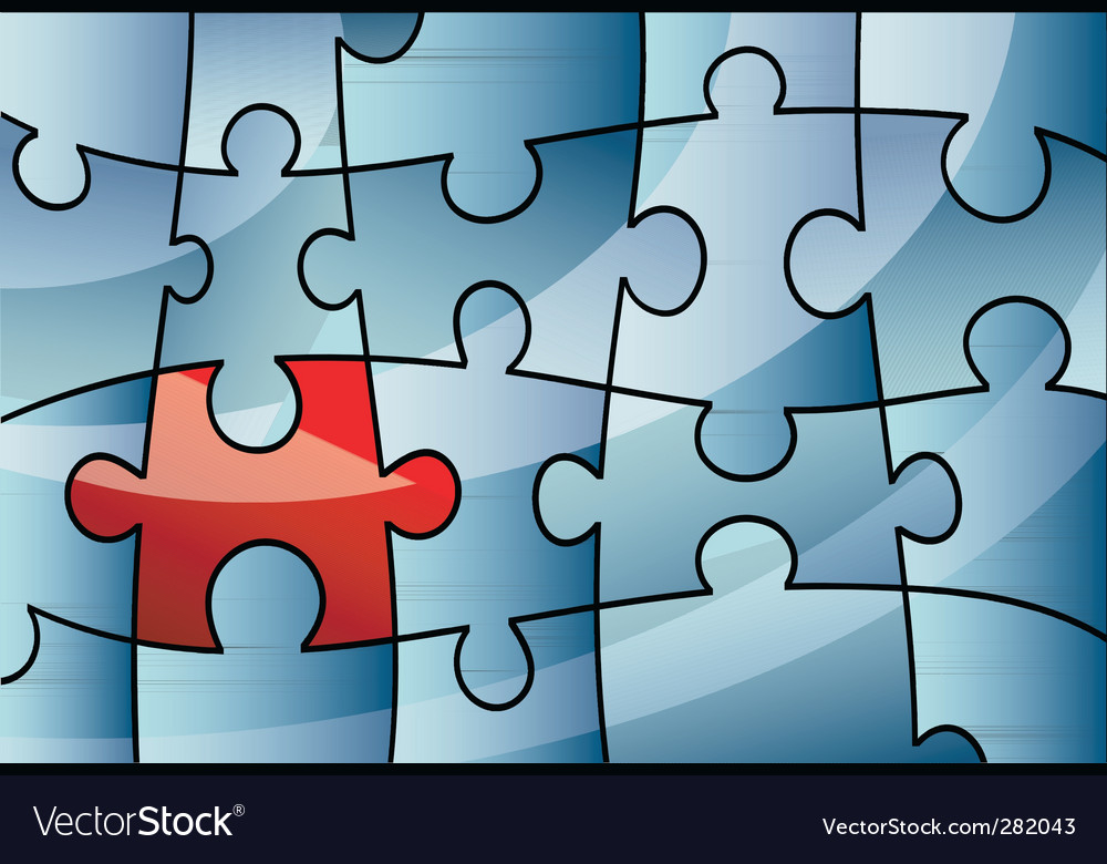 Puzzle design background vector | Price: 1 Credit (USD $1)