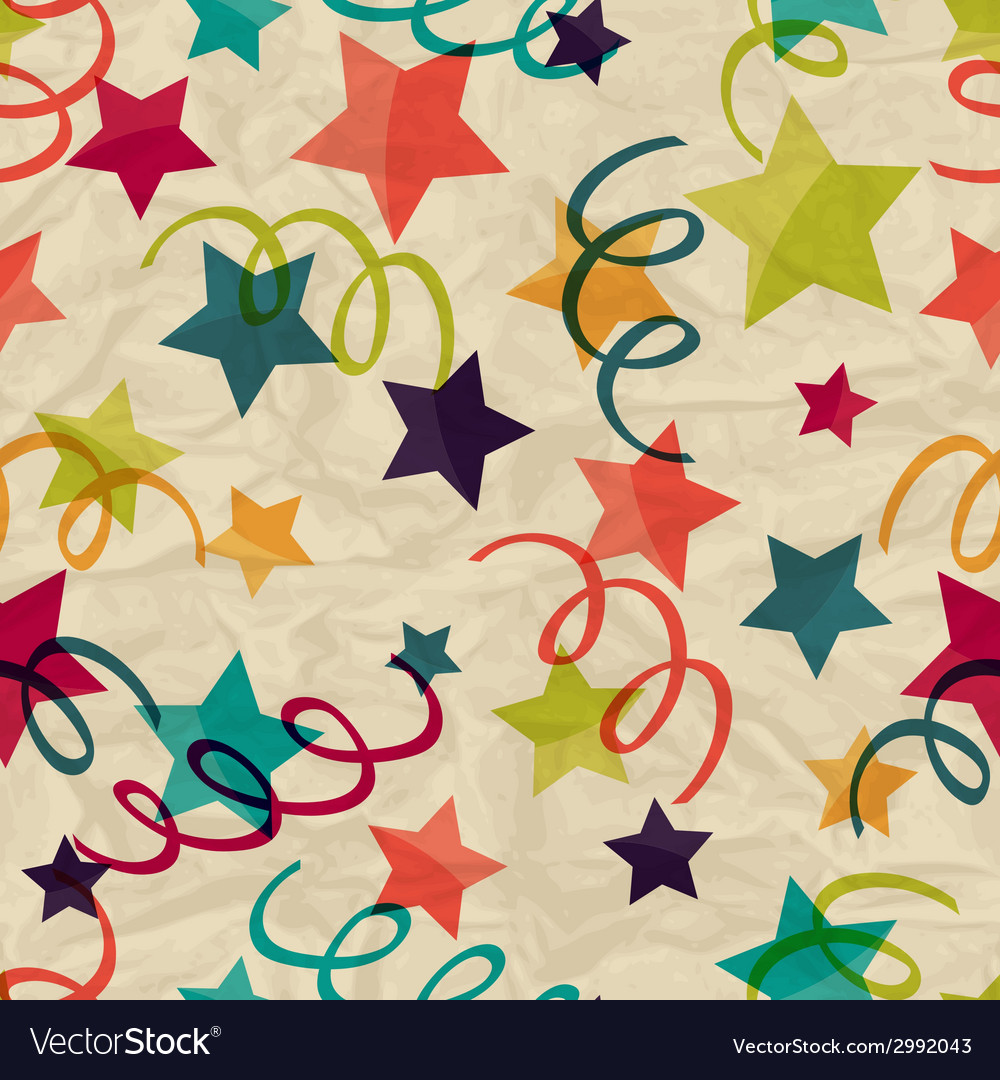 Seamless pattern with stars and serpentine on vector | Price: 1 Credit (USD $1)