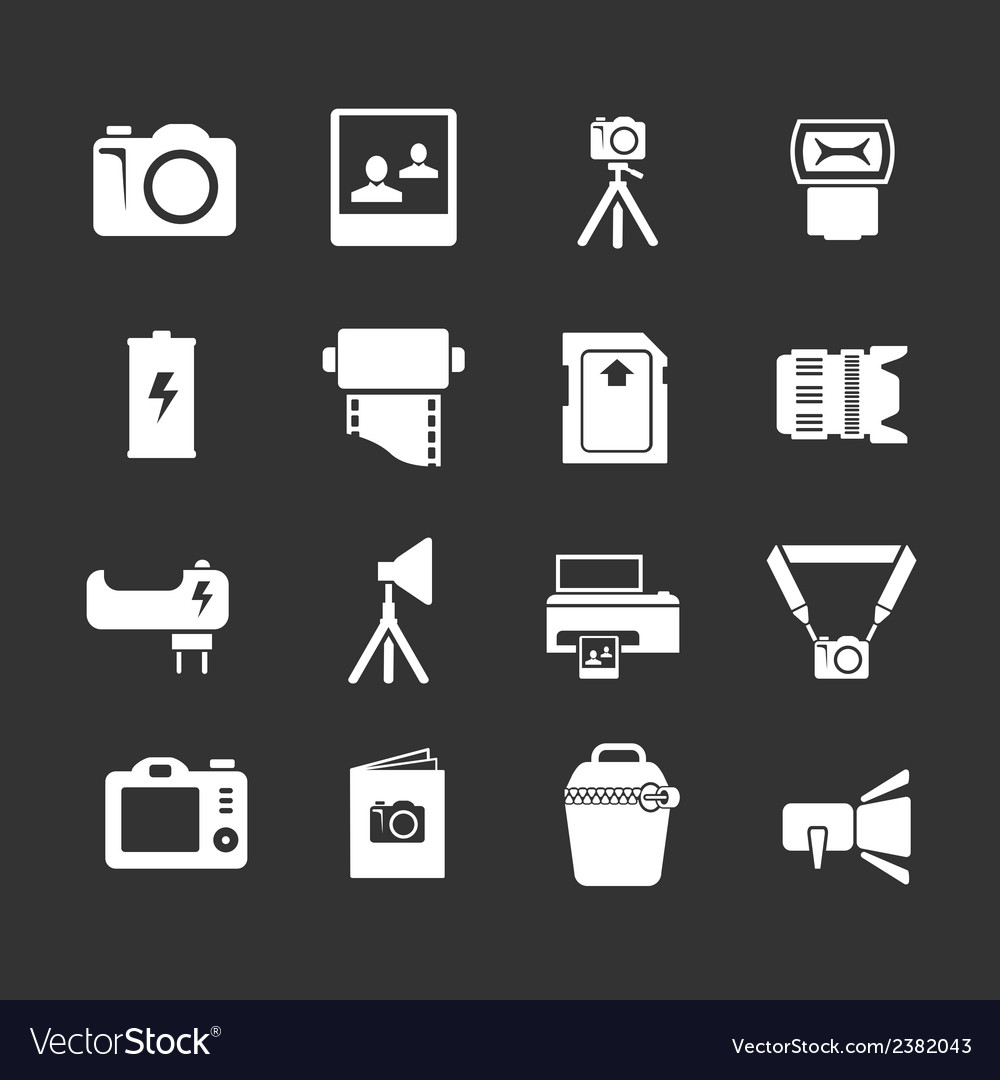 Set icons of photo vector | Price: 1 Credit (USD $1)