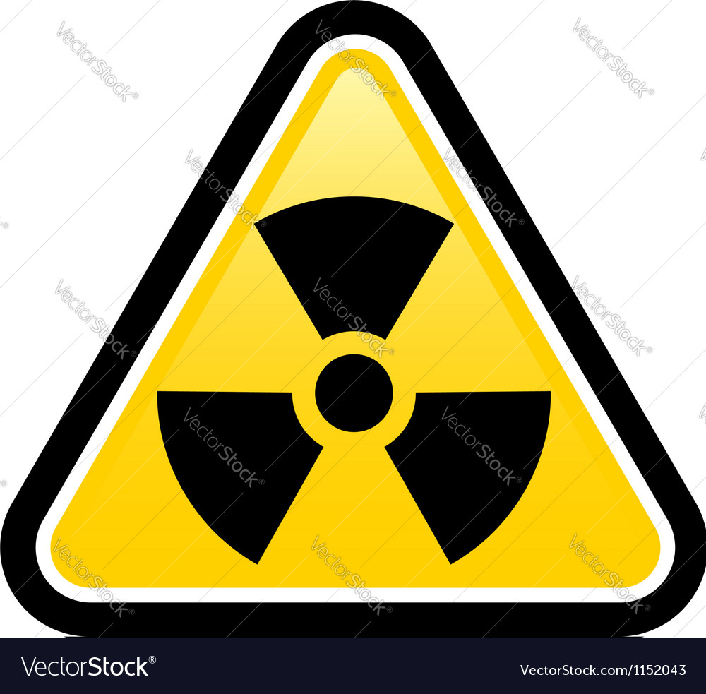 Warning radiation sign vector | Price: 1 Credit (USD $1)