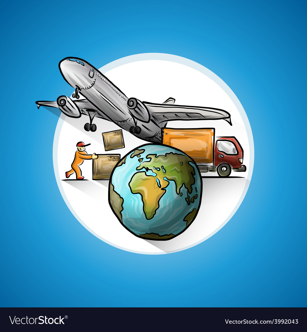 Worldwide delivery vector | Price: 1 Credit (USD $1)