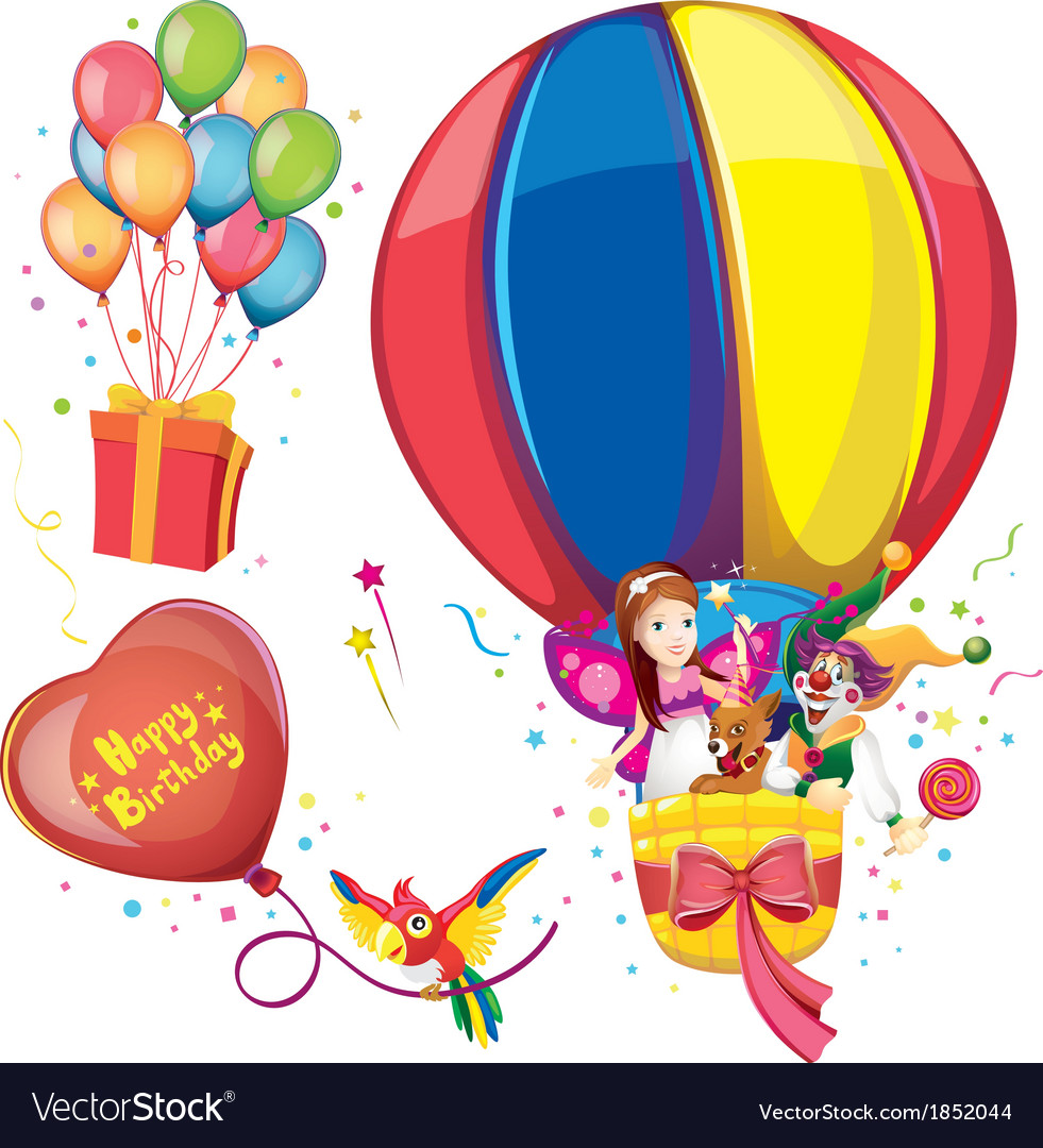 Birthday balloon set vector | Price: 3 Credit (USD $3)