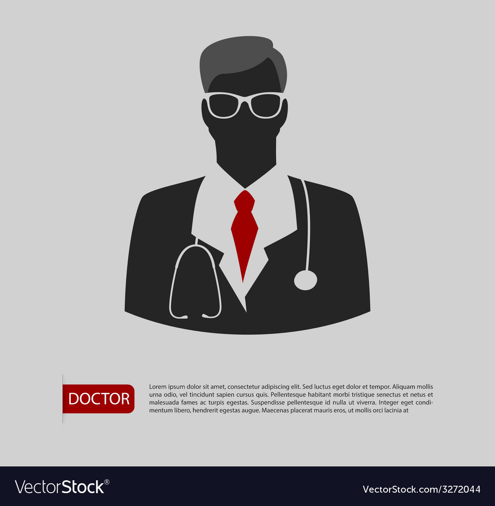 Doctor man icon 2 colors vector | Price: 1 Credit (USD $1)