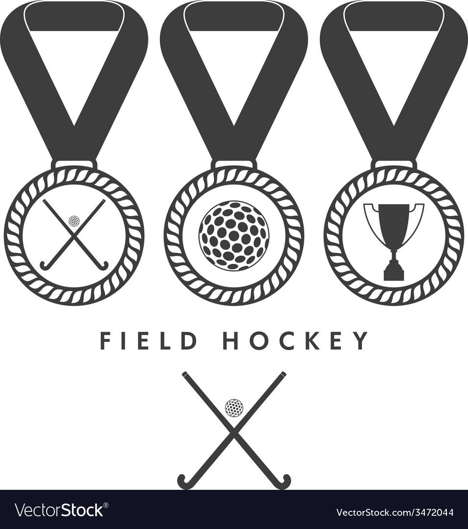 Field hockey vector | Price: 1 Credit (USD $1)