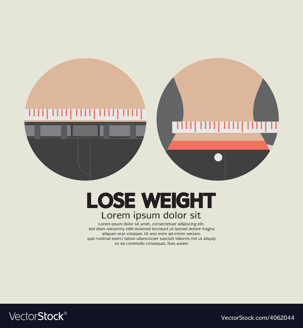 Flat design lose weight healthy concept vector | Price: 1 Credit (USD $1)