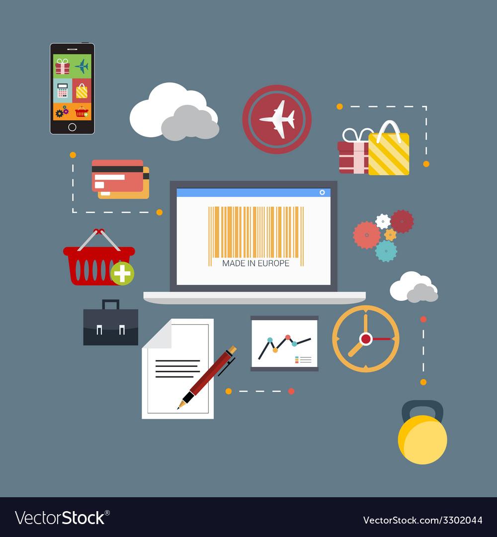 Flat scheme of web analytics information vector   Price: 1 Credit (USD $1)