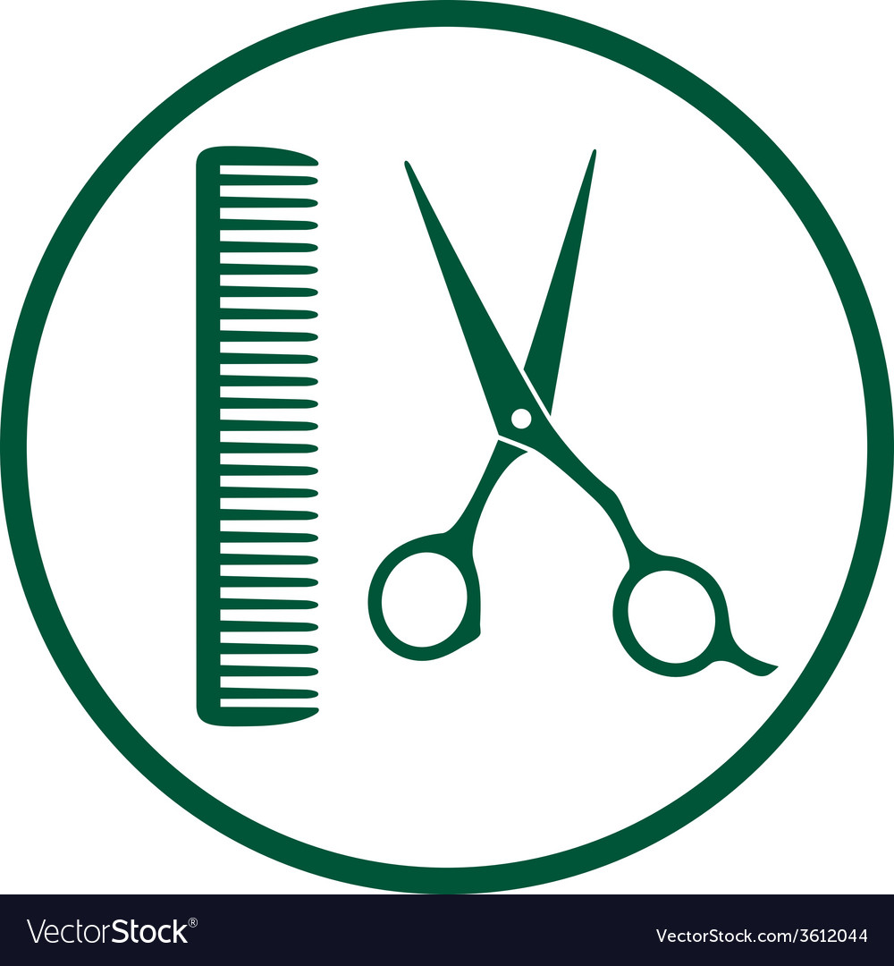 Green hairdresser sign vector | Price: 1 Credit (USD $1)