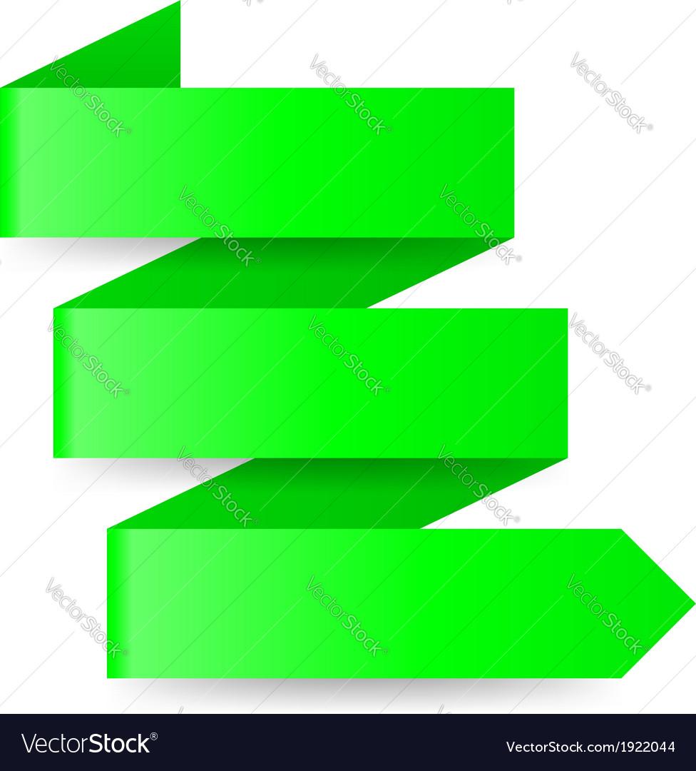 Green paper arrow vector   Price: 1 Credit (USD $1)