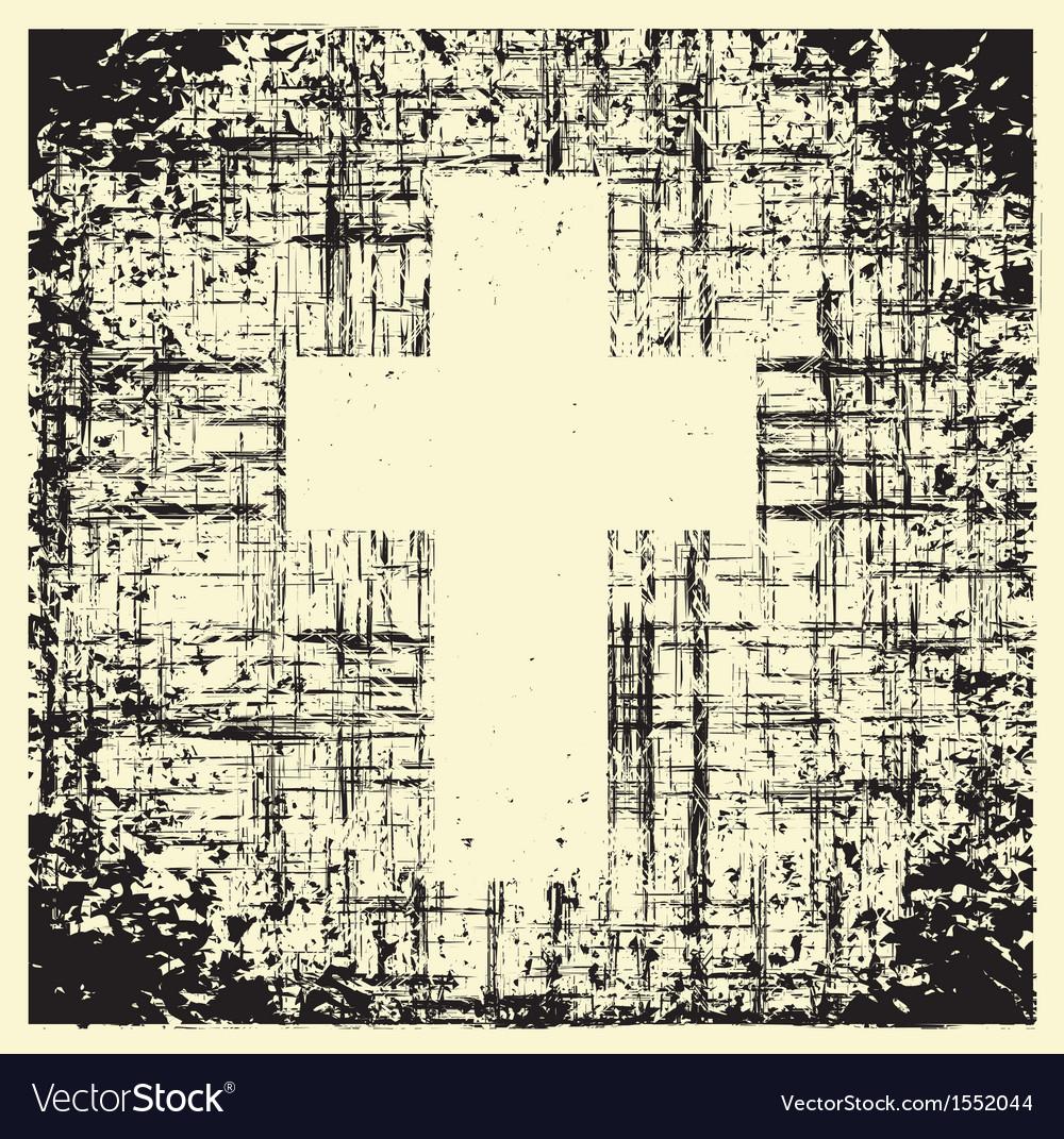 Grunge cross vector | Price: 1 Credit (USD $1)