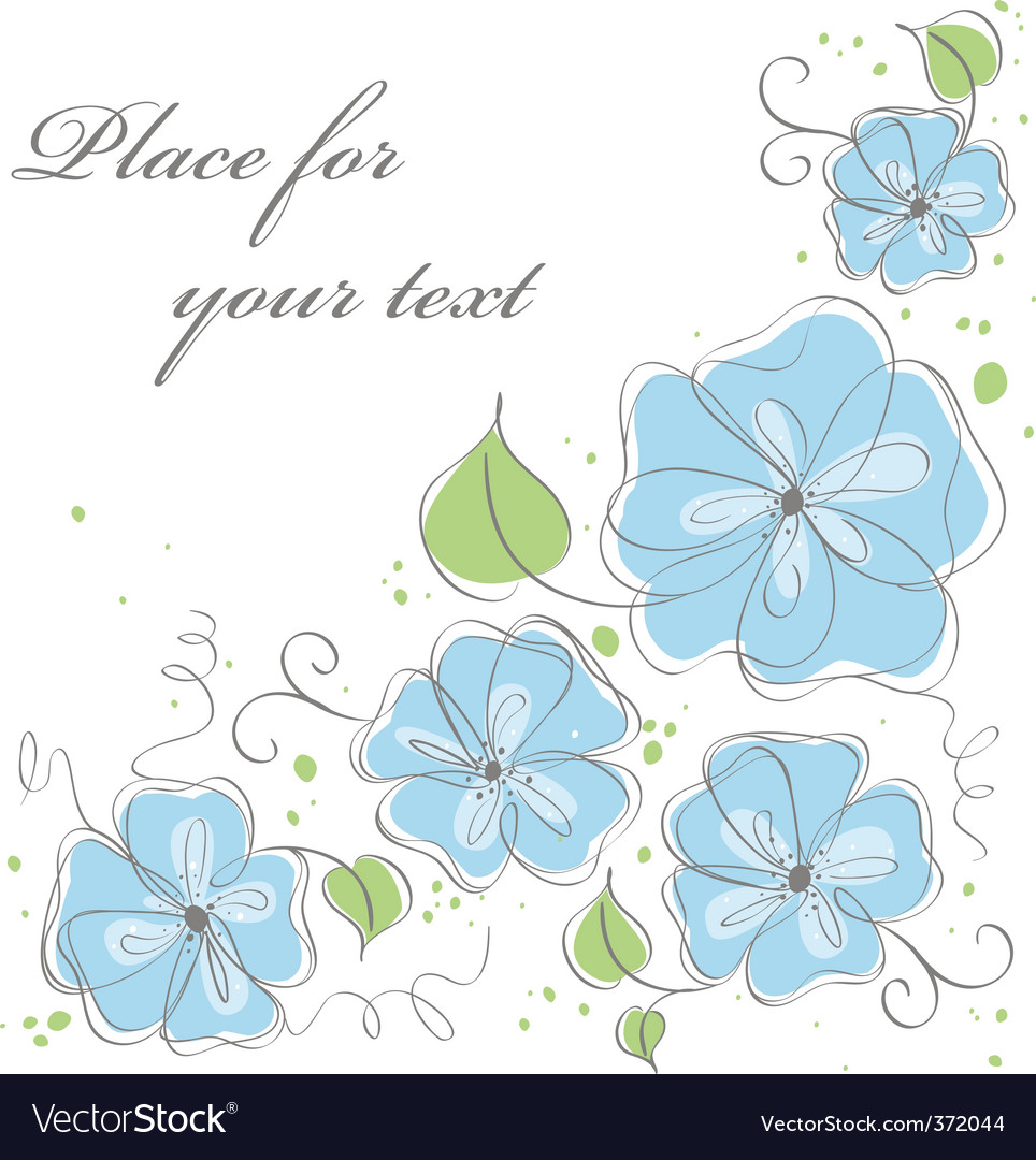 Lue vector floral background vector | Price: 1 Credit (USD $1)
