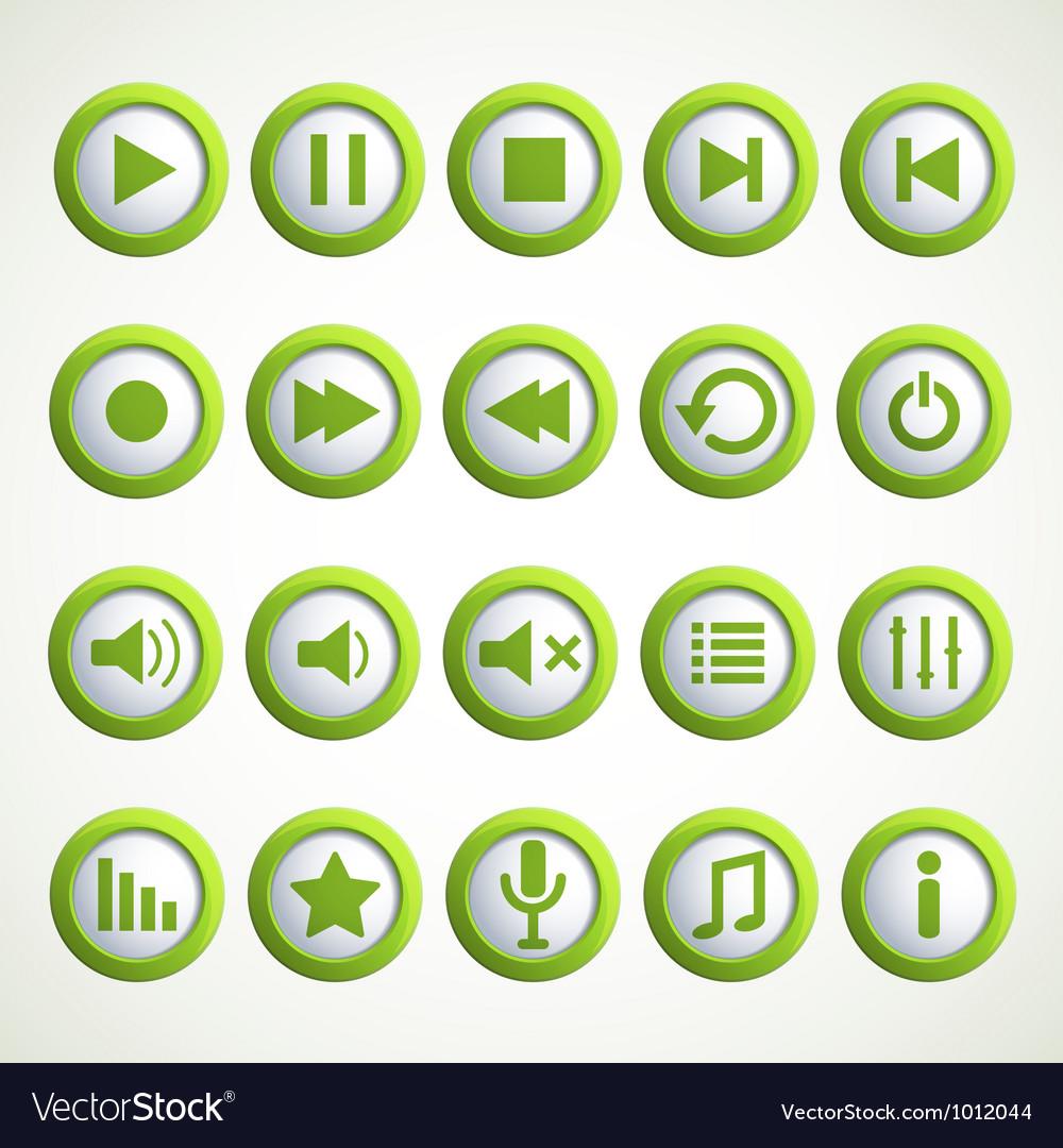 Media player icon vector | Price: 1 Credit (USD $1)