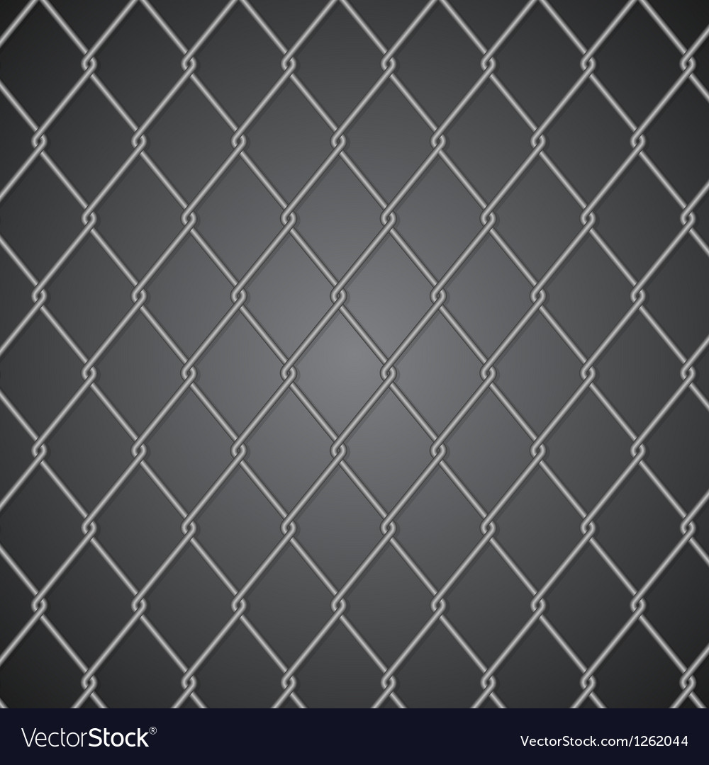 Metal fence on dark background vector | Price: 1 Credit (USD $1)