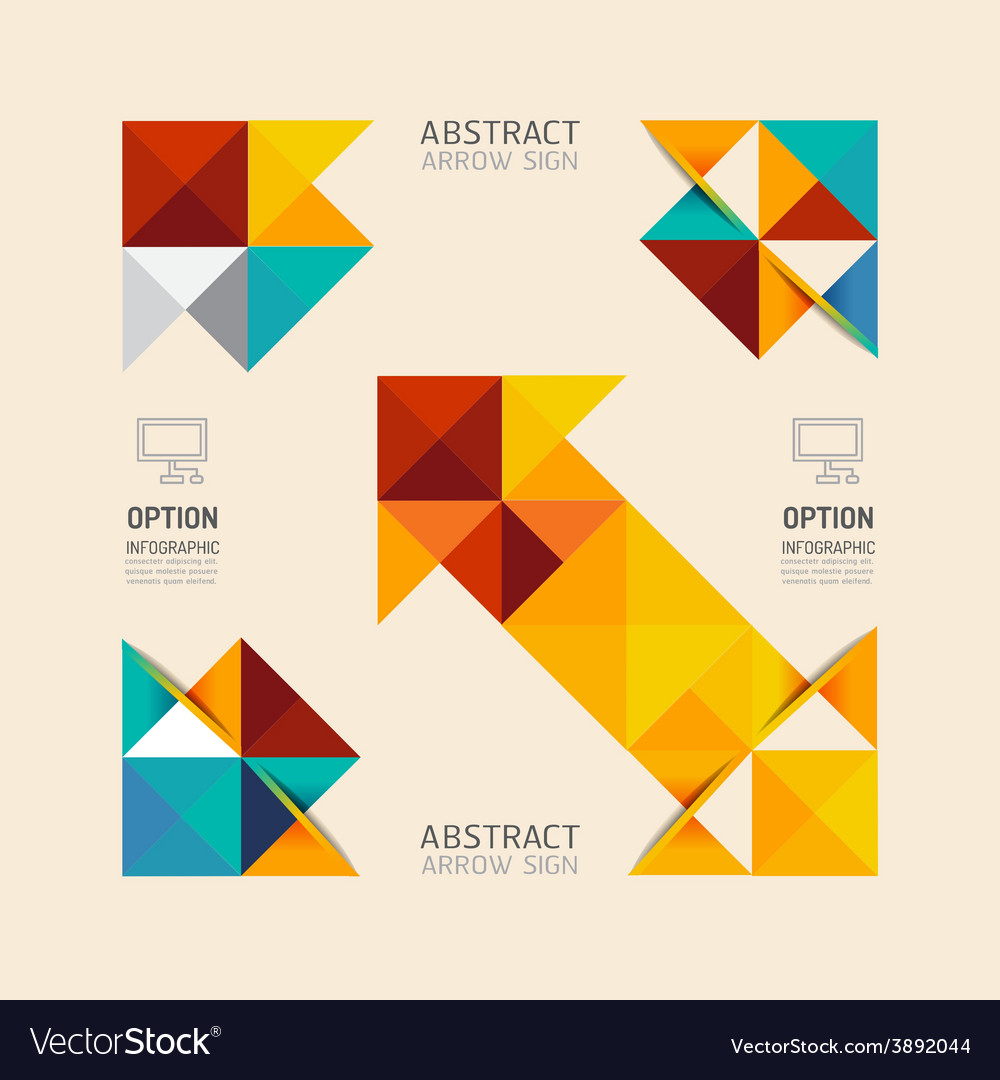 Modern infographic banner geometric arrow abstract vector | Price: 1 Credit (USD $1)