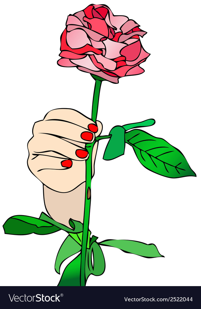 Receive a rose vector | Price: 1 Credit (USD $1)