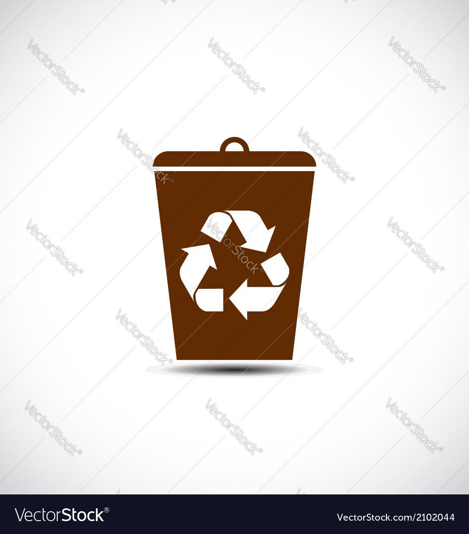 Recycle waste bin vector | Price: 1 Credit (USD $1)