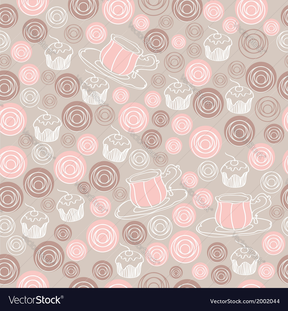 Seamless sweet tea pattern vector | Price: 1 Credit (USD $1)