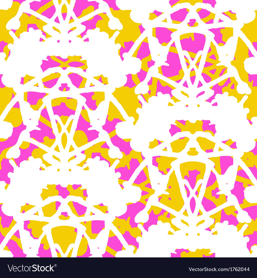 Vintage damask pattern with abstract shapes vector | Price: 1 Credit (USD $1)
