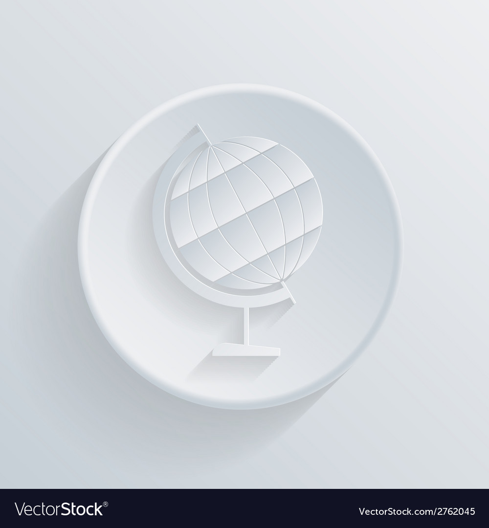 Circle icon with a shadow globe vector | Price: 1 Credit (USD $1)