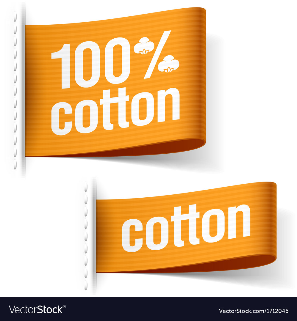 Cotton product clothing labels vector | Price: 1 Credit (USD $1)