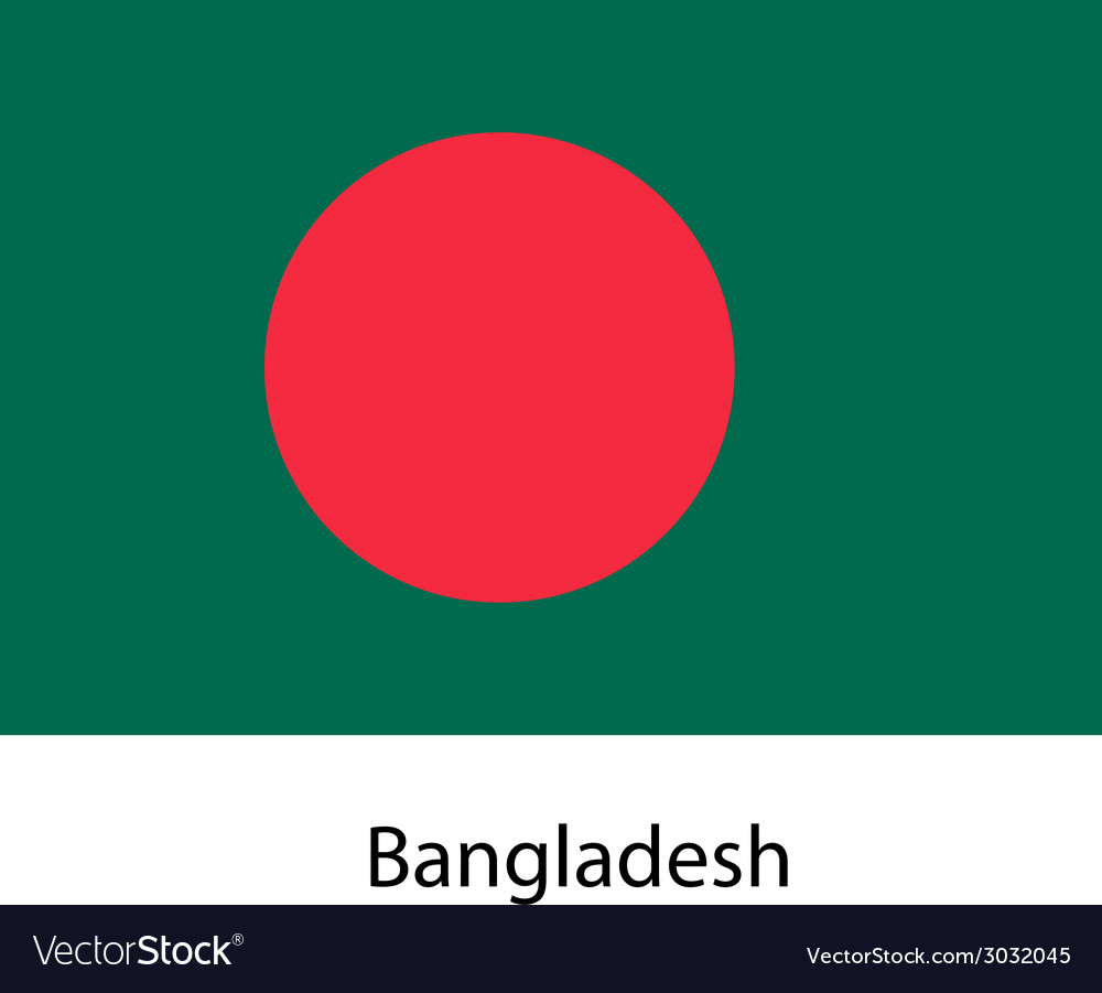 Flag of the country bangladesh vector | Price: 1 Credit (USD $1)