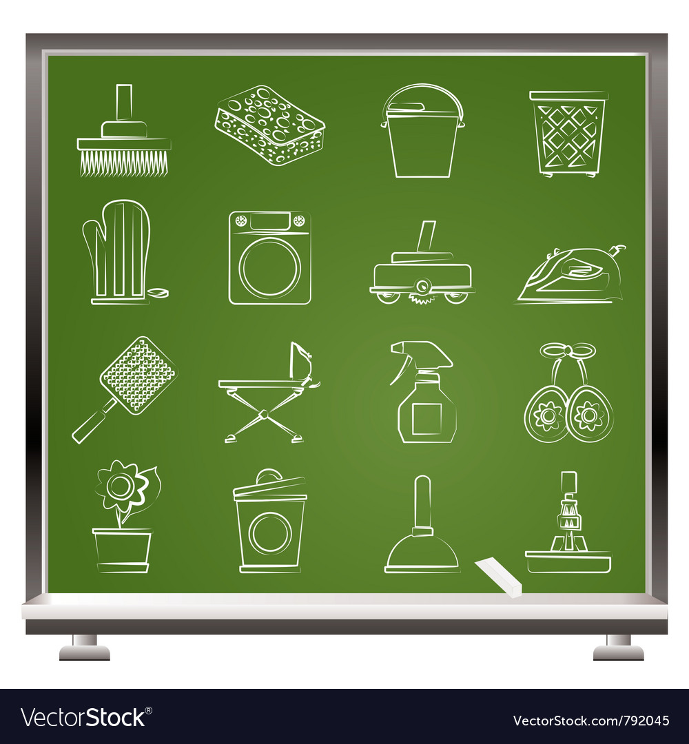 Household objects and tools icons vector   Price: 1 Credit (USD $1)