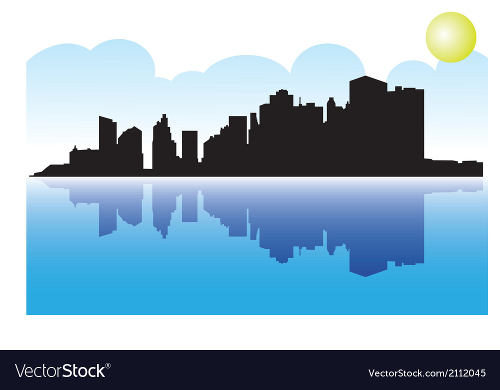 Manhattan skyline vector | Price: 1 Credit (USD $1)
