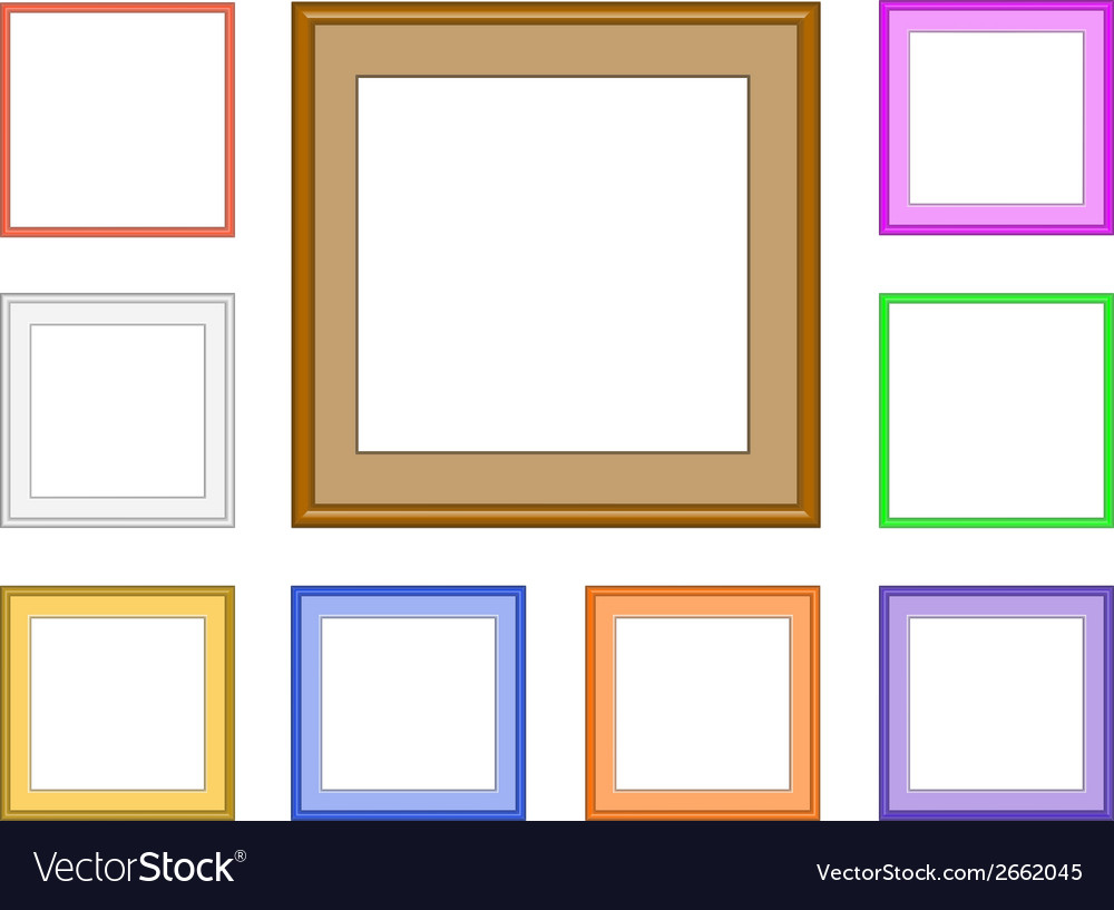 Modern frame square vector | Price: 1 Credit (USD $1)