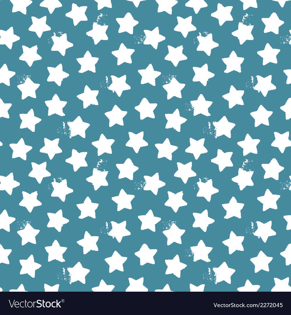 Seamless pattern of stars and dots vector | Price: 1 Credit (USD $1)