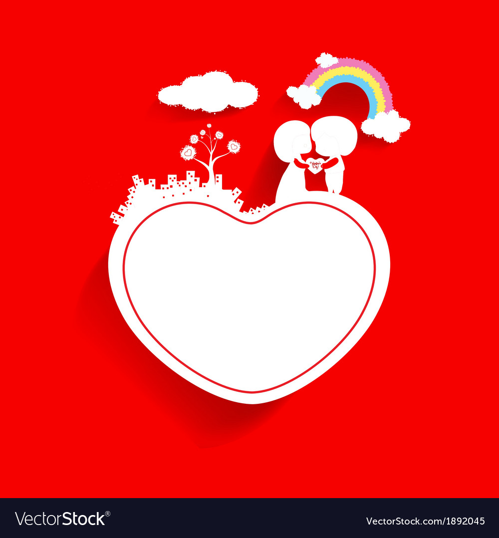 Valentines day background with cloud vector | Price: 1 Credit (USD $1)