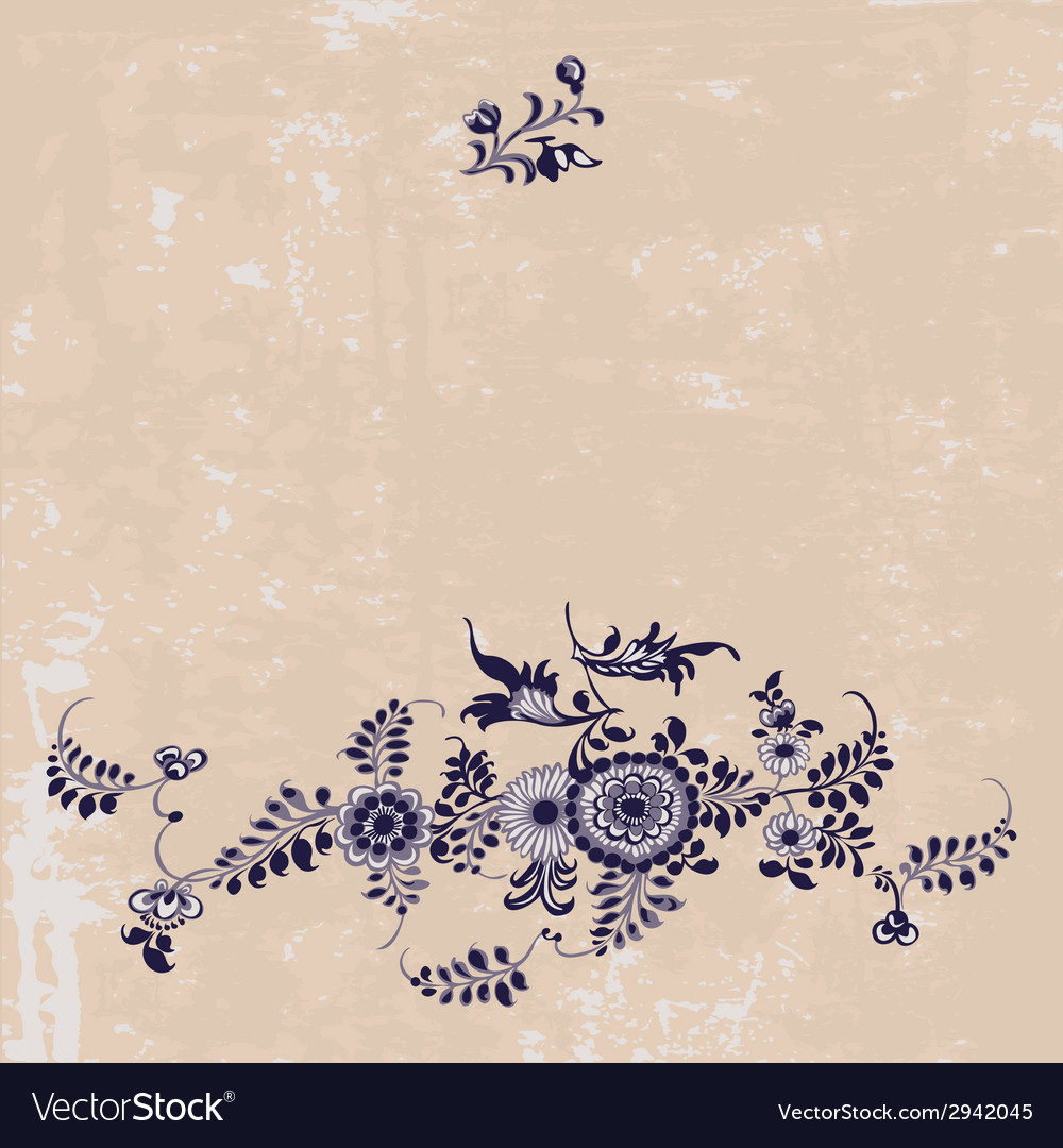 Vintage floral pattern background vector | Price: 1 Credit (USD $1)