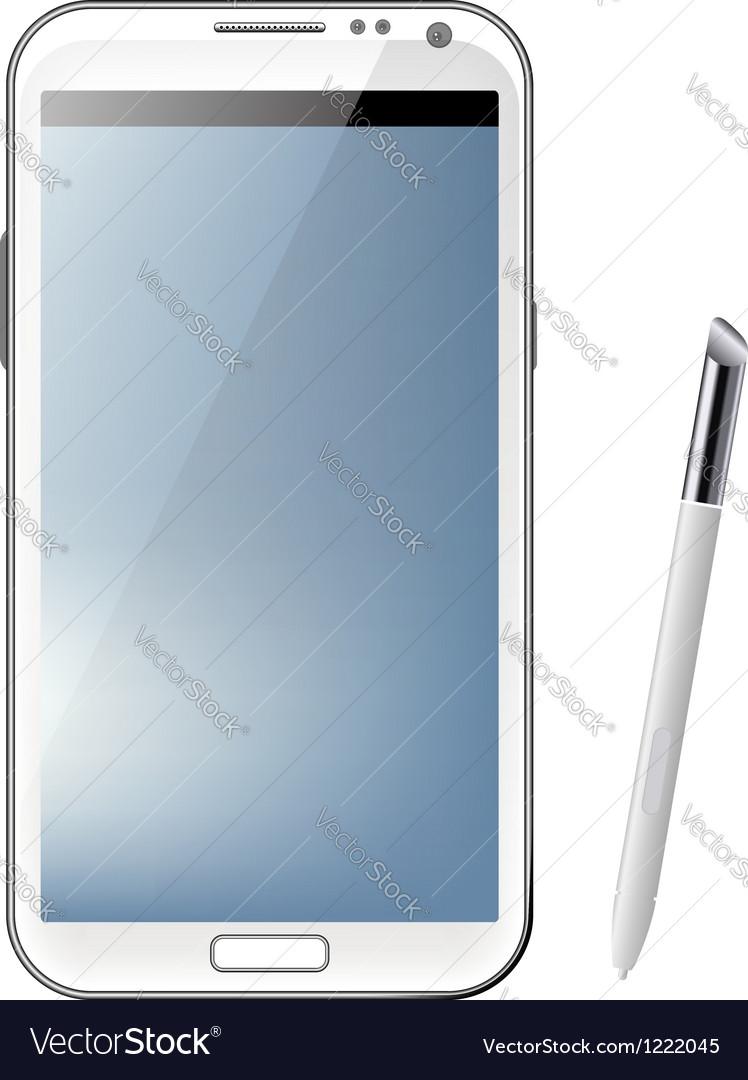 White mobile phone vector | Price: 1 Credit (USD $1)