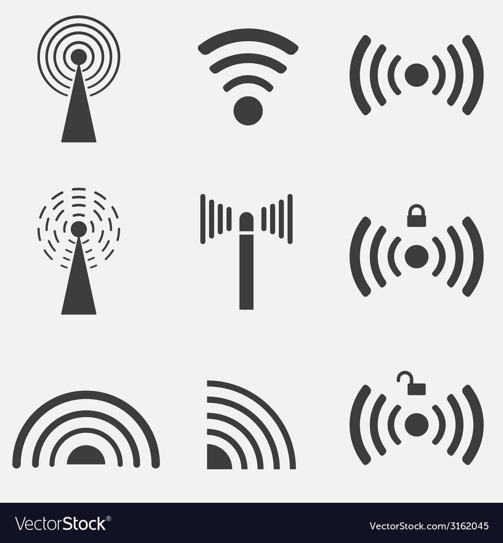 Wifi icon set vector | Price: 1 Credit (USD $1)