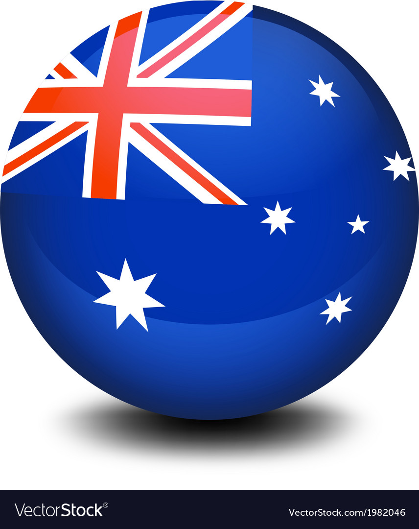 A soccer ball with the flag of australia vector | Price: 1 Credit (USD $1)