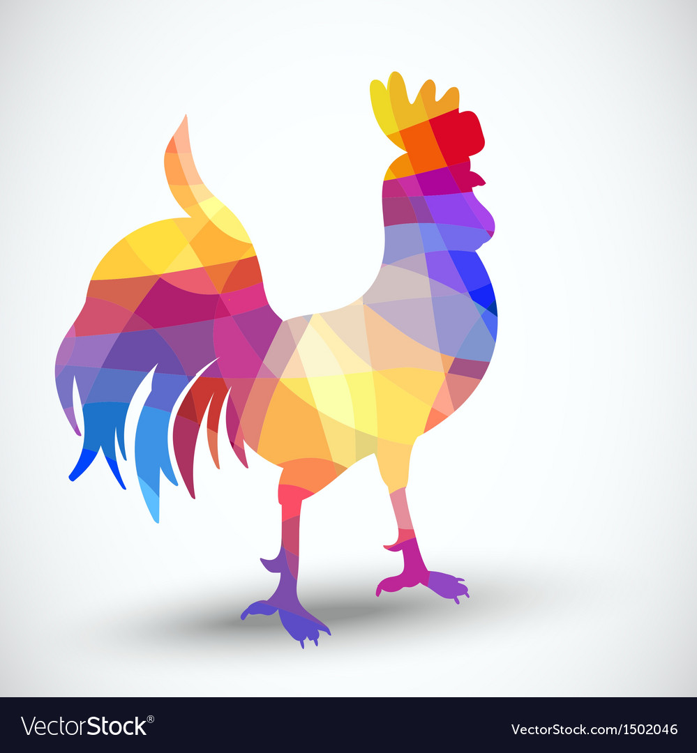 Abstract rooster of geometric shapes vector | Price: 1 Credit (USD $1)