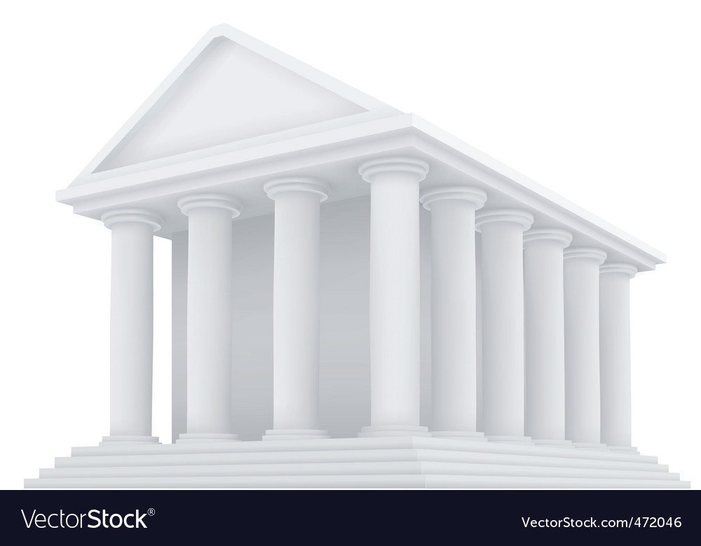 Ancient building vector | Price: 1 Credit (USD $1)