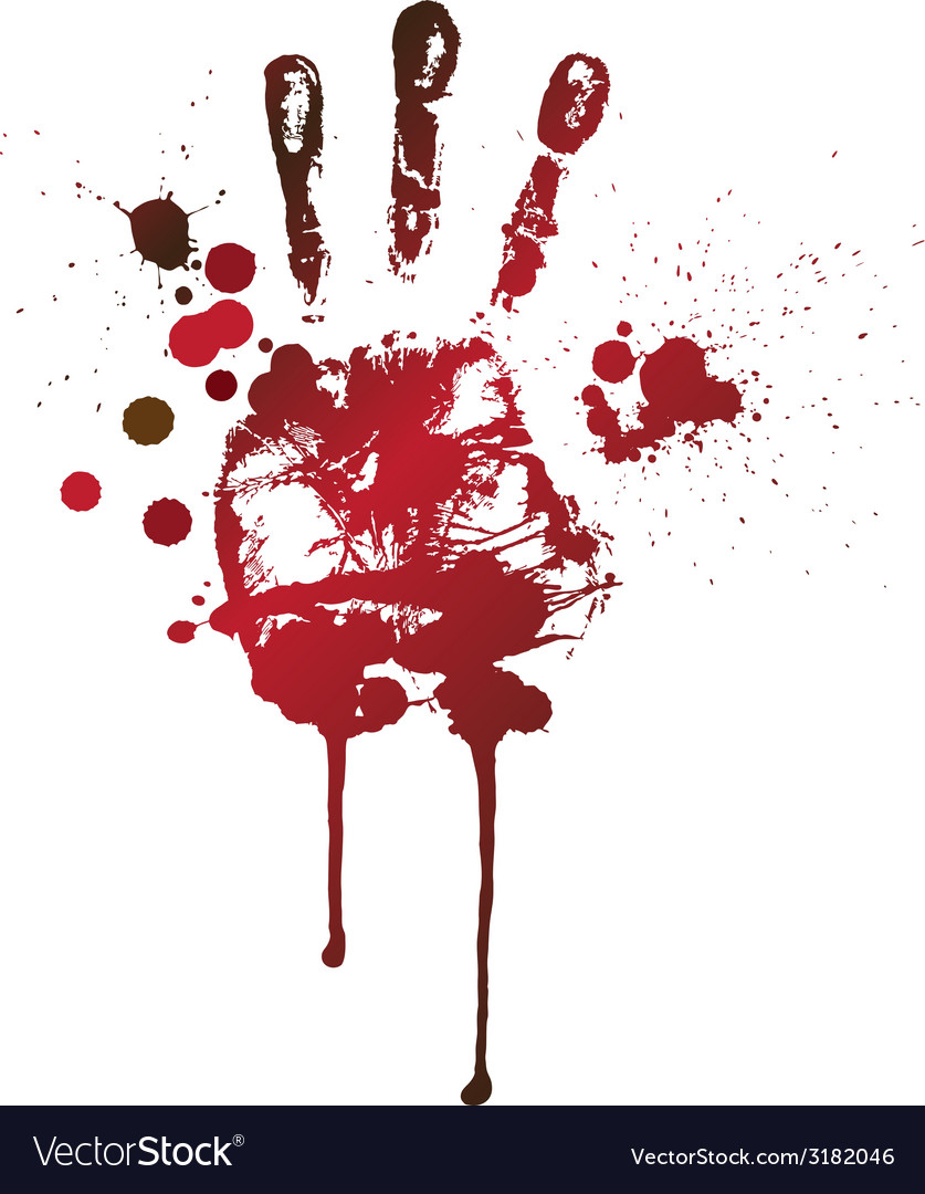 Bloody handprint vector | Price: 1 Credit (USD $1)