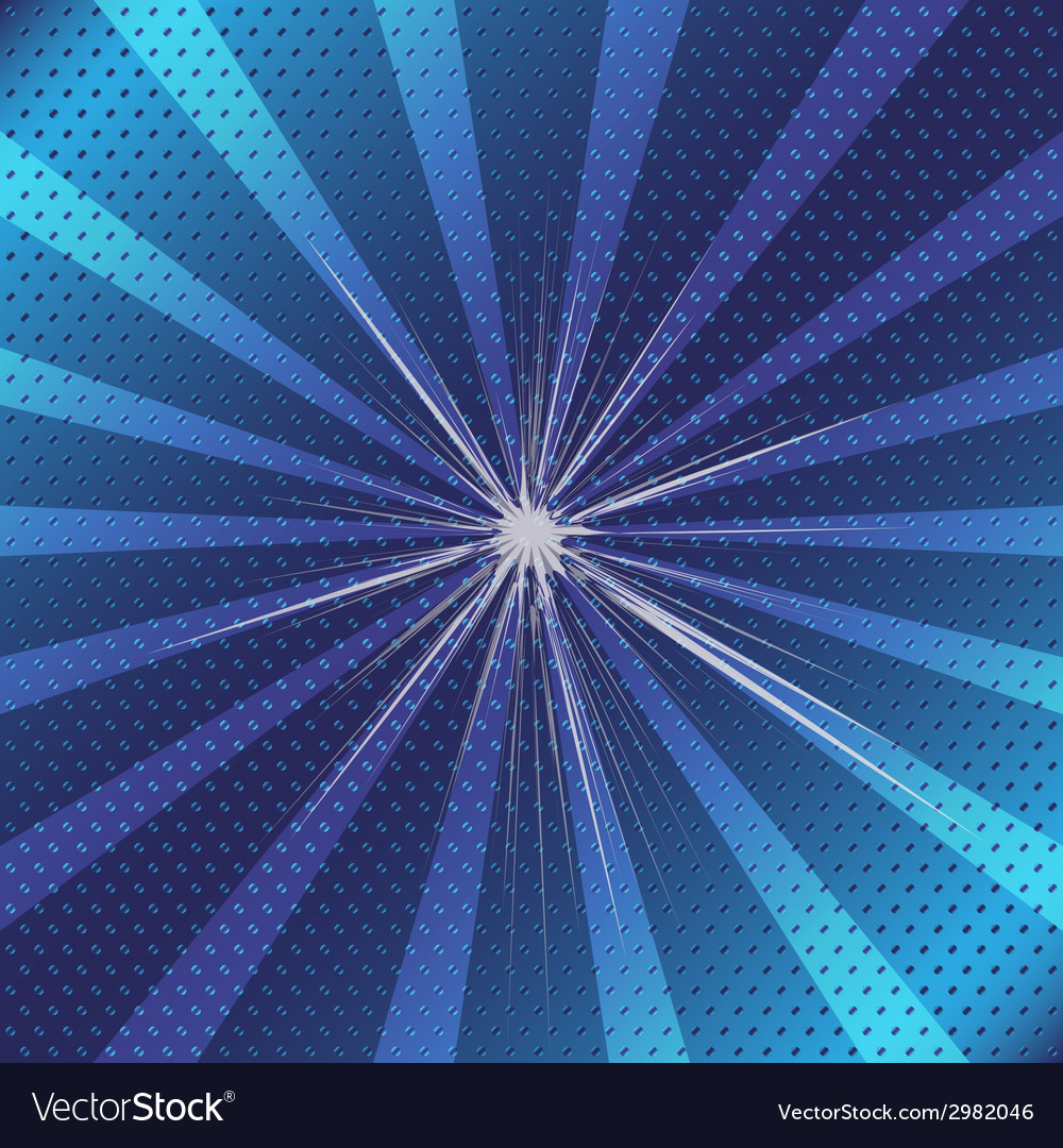 Burst rays blue background with halftone vector   Price: 1 Credit (USD $1)