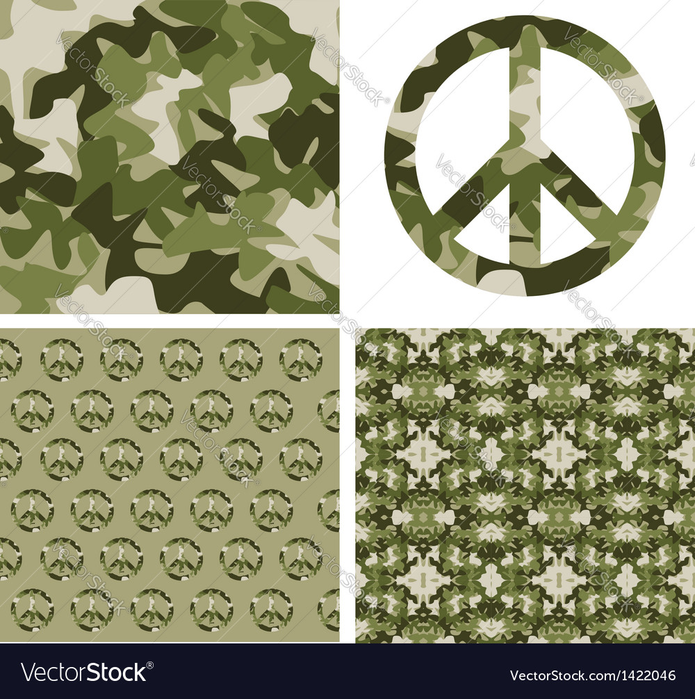 Camouflaged peace patchs vector | Price: 1 Credit (USD $1)